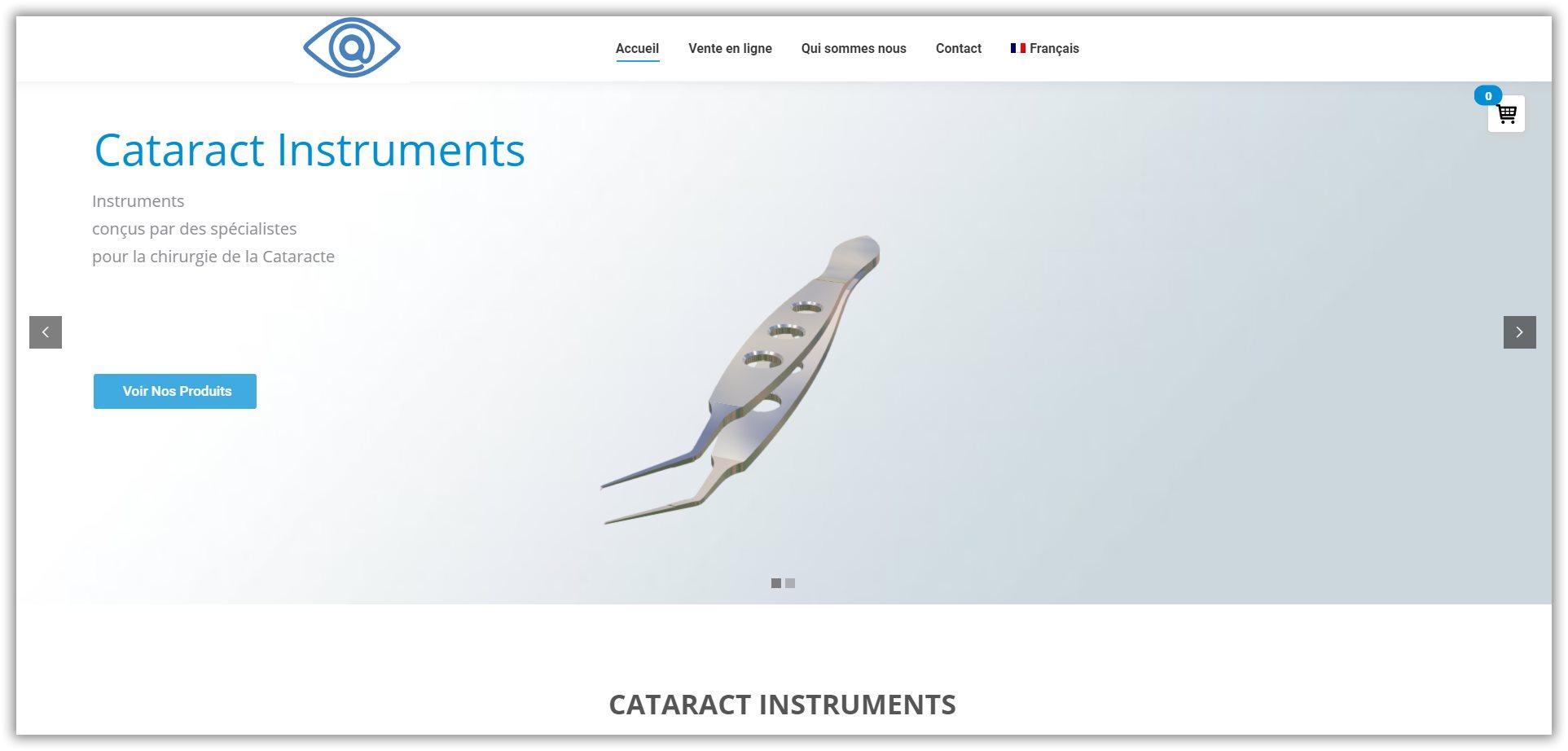 vente d'instruments cataracte