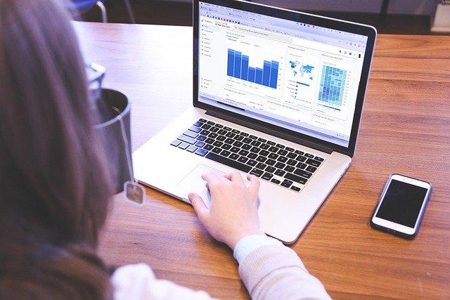 Image illustrant une personne qui observe le trafic d'un site internet