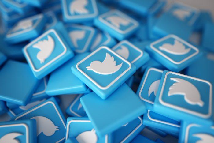 pièce logo twitter 3D