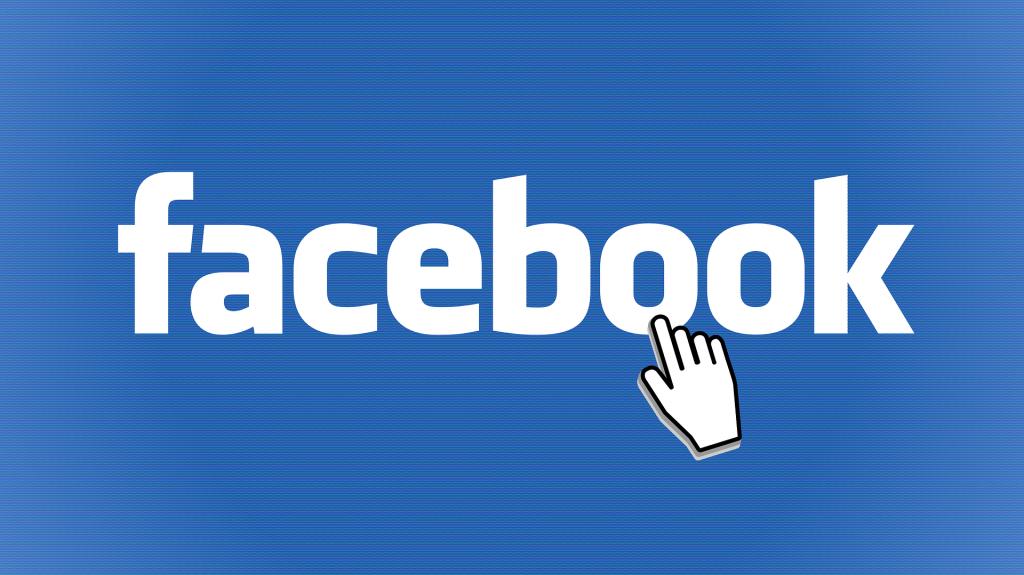 Ecriture blanche facebook sur fond bleu