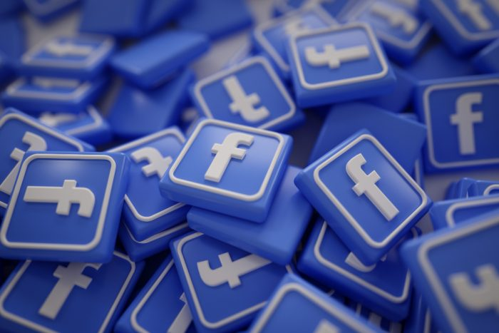 pièce logo facebook 3D